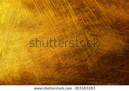 Abstract paint background with golden and bronze colors - stock photo