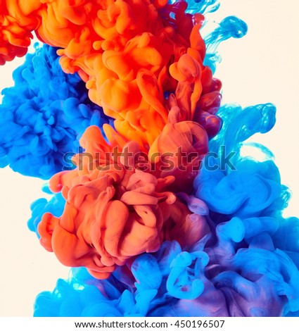 Abstract paint splash background - stock photo