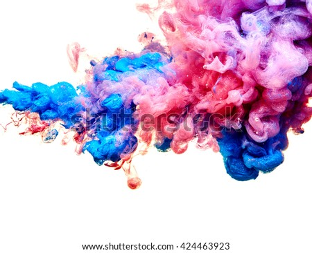 Abstract paint splash isolated on white background - stock photo