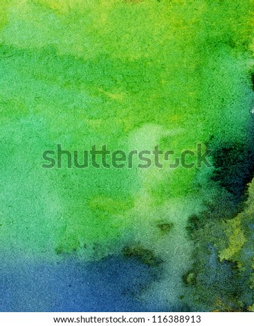 Abstract painted watercolor background - stock photo