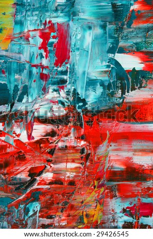 Abstract painting. Art is created and painted by photographer. - stock photo