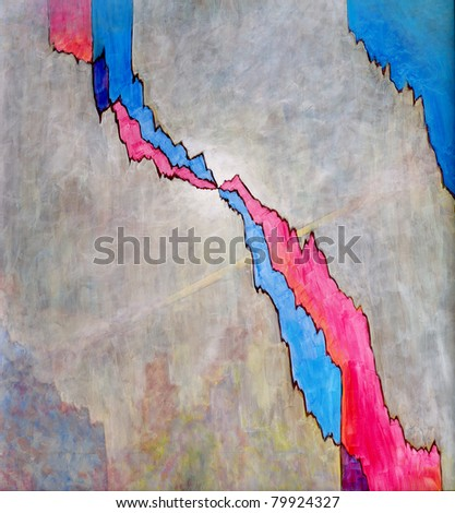 Abstract Painting by Clive Watts - Crack - stock photo