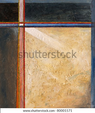 Abstract painting by Clive Watts - eoa #12 - stock photo