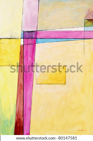 Abstract painting by Clive Watts - eoa #5 - stock photo