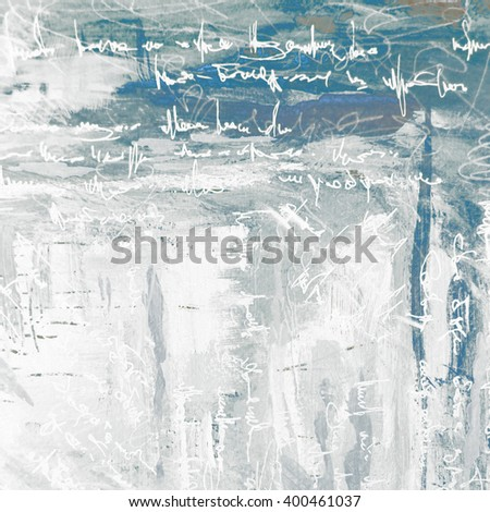abstract painting for interior on a grey background with imitation text, illustration - stock photo