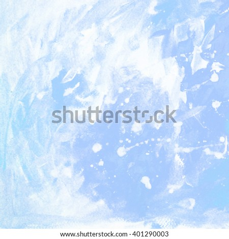 abstract painting for interior with white blots and spots, background - stock photo