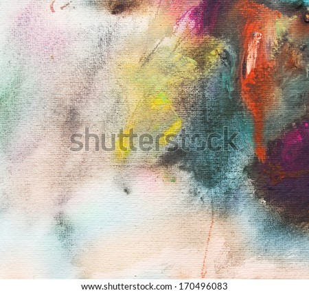 Abstract painting on handmade paper, art background - stock photo