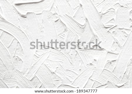 Abstract paintings of white colors, embossed decoration - stock photo