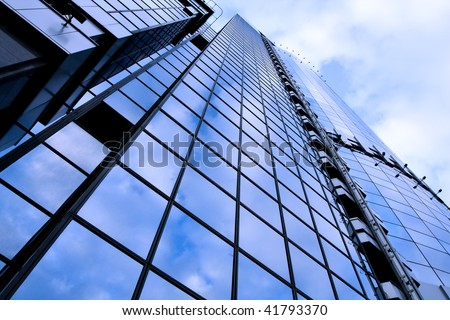 abstract pane of huge building - stock photo