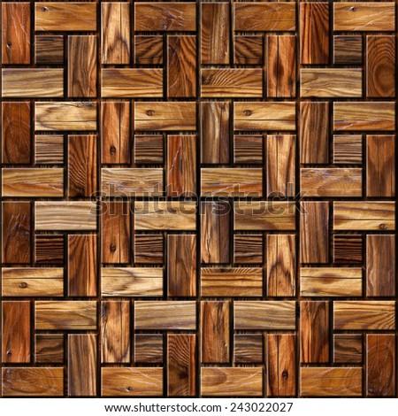 Abstract paneling pattern - seamless background - wood paneling - stock photo