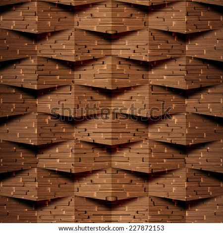Abstract paneling pattern - seamless background - wood wall - oak veneer - stock photo