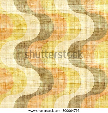 Abstract paneling pattern - waves decoration - seamless background -  papyrus surface - stock photo