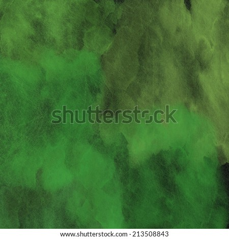 abstract paper background with layers green watercolor texture painting pattern  - stock photo