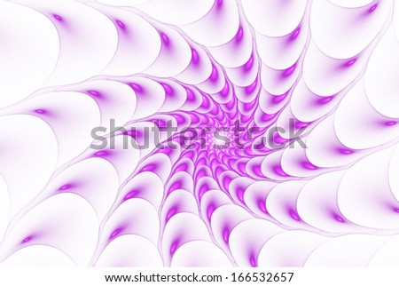 Abstract pattern, spiral fractal - stock photo