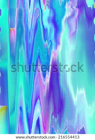 Abstract pattern zigzag shape in the bluish and purple shades - stock photo