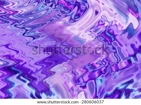 Abstract pattern zigzag shape in ultramarine shades - stock photo
