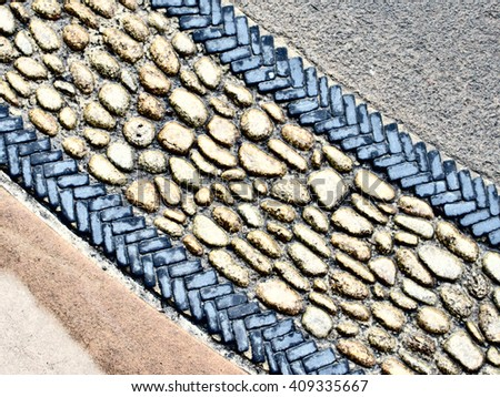 Abstract Paving Aerial View  - stock photo