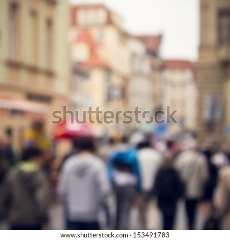 abstract people background - stock photo