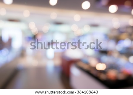 Abstract people shopping in department store. blurry for background. - stock photo