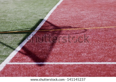 Abstract photo of street ball cort - stock photo