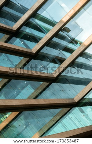 Abstract picture of a modern building - stock photo