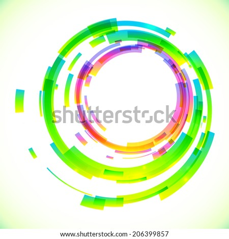 Abstract pink and green colors circles frame - stock photo