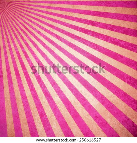abstract pink and white sunburst background, retro vintage style sunbeam or rays in diagonal pattern design with texture  - stock photo