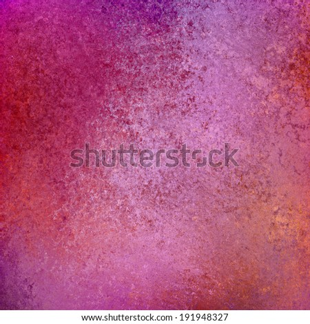 abstract pink background, purple and orange accent colors on border design, elegant vintage grunge background texture and rough distressed sponged paint - stock photo