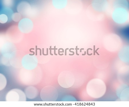 Abstract pink blue blurred background.Soft colors valentine holiday backdrop.Romantic wallpaper. - stock photo