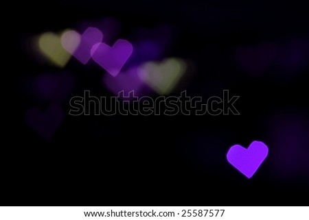 Abstract pink colored heart bokeh background - stock photo