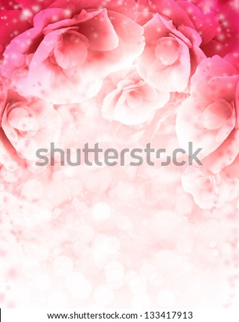 Abstract pink  flower card/ Beautiful flower background/ Spring background - stock photo