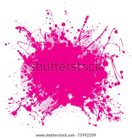 Abstract pink grunge background with splat halftone dots - stock photo