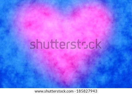 Abstract pink heart blue background  - stock photo