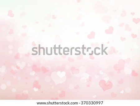Abstract pink heart bokeh background. Heart Love Corazones Wallpaper Backdrop Blur Blurred Light White Gray Glowing February Day Happy Card Valentine Pastel Dark Web Group Soft Blurry Lens Rays View - stock photo