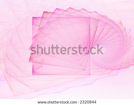 Abstract pink snail design;  fractal spiral image - stock photo