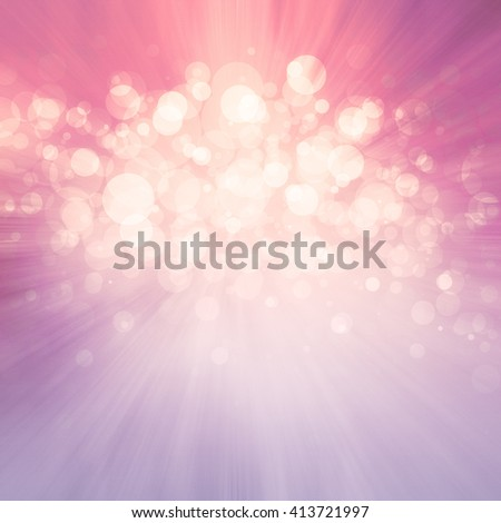 abstract pink zoom blur starburst or sunburst pattern with sparkling white bokeh lights in the center - stock photo