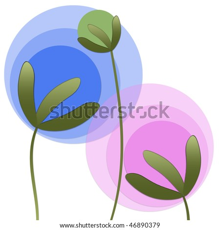 Abstract plants - stock photo
