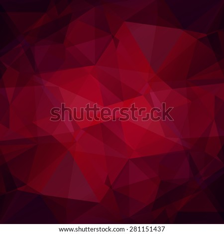 Abstract polygonal background with pink and lilac triangles. - stock photo