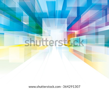 Abstract polygonal cubes background. - stock photo