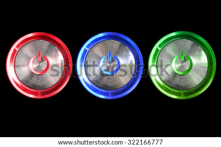 Abstract power computer button set  for background or wallpaper - stock photo
