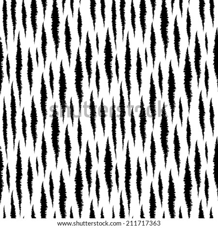 Abstract print animals seamless pattern. Tiger stripes. Distressed background texture in black and white. Monochrome -  raster version  - stock photo