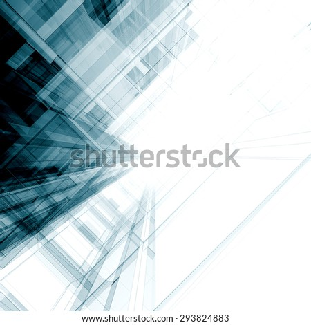 Abstract project. Architecture design and model my own - stock photo