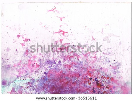 abstract purple and red watercolor background.  Art is created and painted by myself. - stock photo