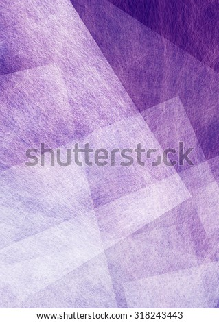 abstract purple and white background with random angles triangles and square blocks in layered pattern - stock photo