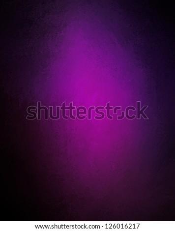 abstract purple background solid color, bright center spotlight, fine black vignette border frame, vintage grunge background texture purple pink paper layout design, light colorful graphic art - stock photo