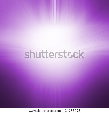 abstract purple background with white center sun lens flare spotlight design of royal purple smooth gradient background texture streaks, abstract background of blurred sun rise illustration concept - stock photo