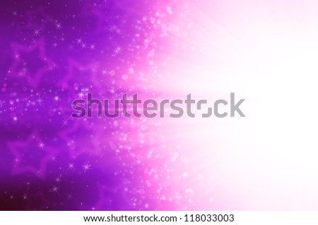 abstract purple stars background - stock photo