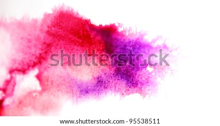 Abstract purple watercolor background - stock photo