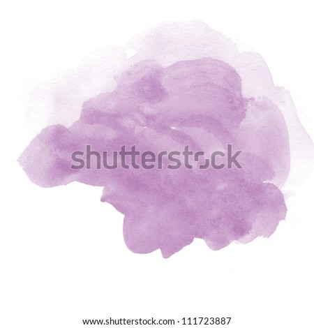 abstract purple watercolor on white background - stock photo