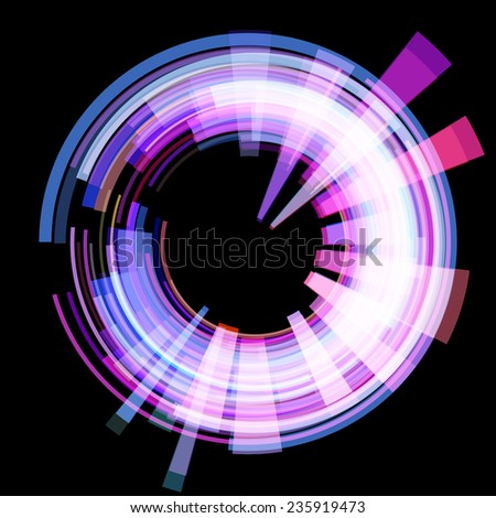 Abstract radioactive circle. Raster. Raster. - stock photo